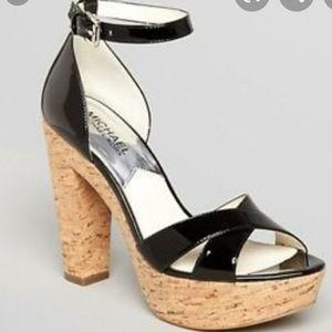 MICHAEL MICHAEL KORS CAMILLA black heel sandals 8
